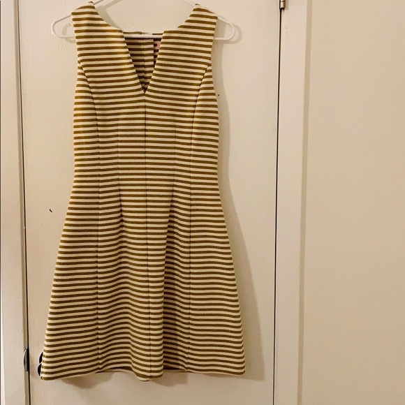 Lilly Pulitzer Brielle Fit and Flare Gold Dress